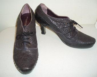 YOSUKE YAJIMA Handmade Gray & Black Heels/Shoes-Size 10 M (41 euro) Made in Italy
