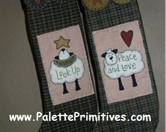 Sheep Stockings - E-Pattern/Instant Download