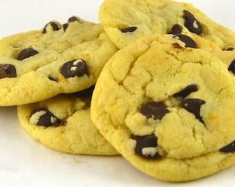 Orange Chocolate Chip Cookies - Homemade - 24 count