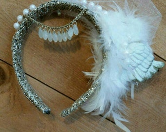 Feather Headdress with side wing