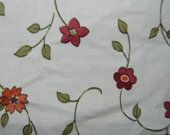Flower valance fabric