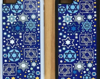 Jewish Judaica Tossed Stars Cell Phone Case