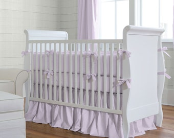Girl Baby Crib Bedding: Solid Lilac 2-Piece Crib Bedding Set by Carousel Designs