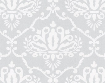Gray Damask Fabric - By The Yard - Girl / Boy / Gender Neutral