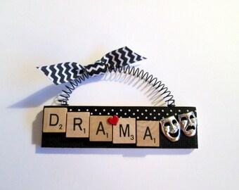 Drama Love Drama Scrabble Tile Ornament