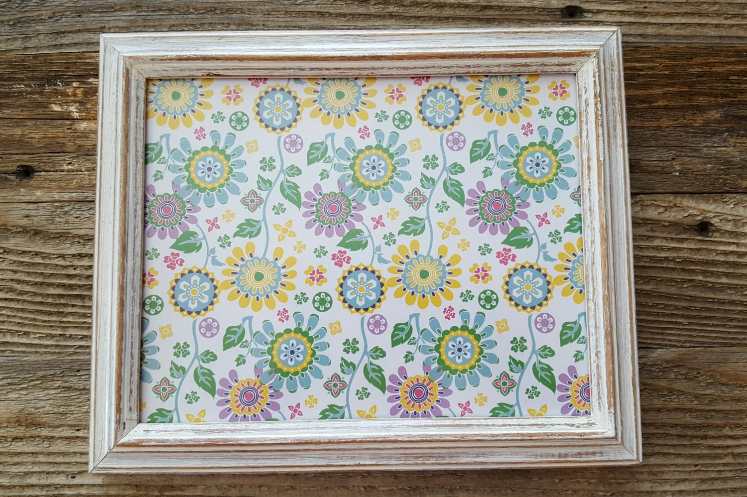 8x10 White Wash Distressed Frame From Scrappyhappyshay On