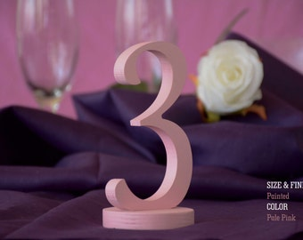 SET 1/40, Elegant Table Numbers, Table Numbers for Wedding, Wooden Table Numbers, Rustic Wedding, Table Numbers