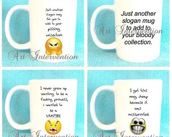 Funny Mugs - Another slogan mug - Grow upto be a vampire - misspelled mug