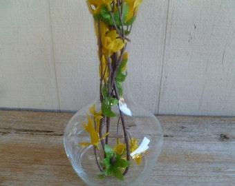 Beautiful Princess House Glass Vase Etched Glass Vase