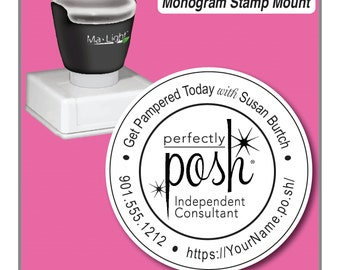 Perfectly Posh Stamp, Perfectly Posh Catalog Stamp, Perfectly Posh Consultant Stamp, 2 inch Stamp