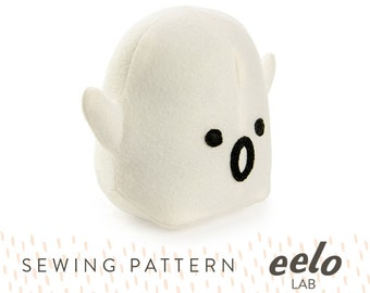 Sewing Pattern PDF for Stuffed Toy -- Hugo the Ghost