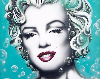 MARILYN MONROE celebrity portrait painting by Artist Alicia Hayes