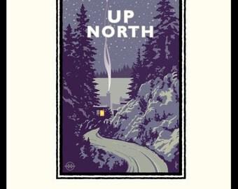 Landmark Series   Up North, Minnesota by Graphic Artist, Mark Herman