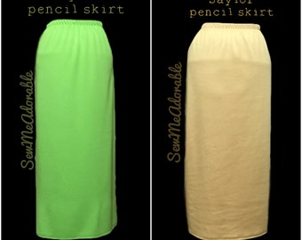 """The """"Saylor"""" Solid Pencil Skirt (several Solid Colors to Choose from)"""