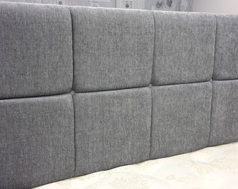 """NEW - 5ft King Size 28"""" Silver Grey Chenille Upholstered Headboard"""
