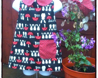 Bunny & Toadstool play dress 1-2yrs