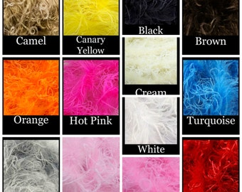 """Curly Ostrich Feather 12"""" Length- You Pick Color"""
