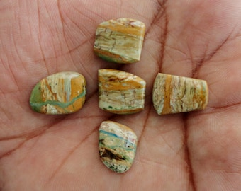 Opalina lot of 5 Piece, 26ct Wholesale Lot, Natural Gemstone Cabochons AG-683