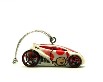 SUPER MARIO BROS. Toad Hot Wheels Car Ornament