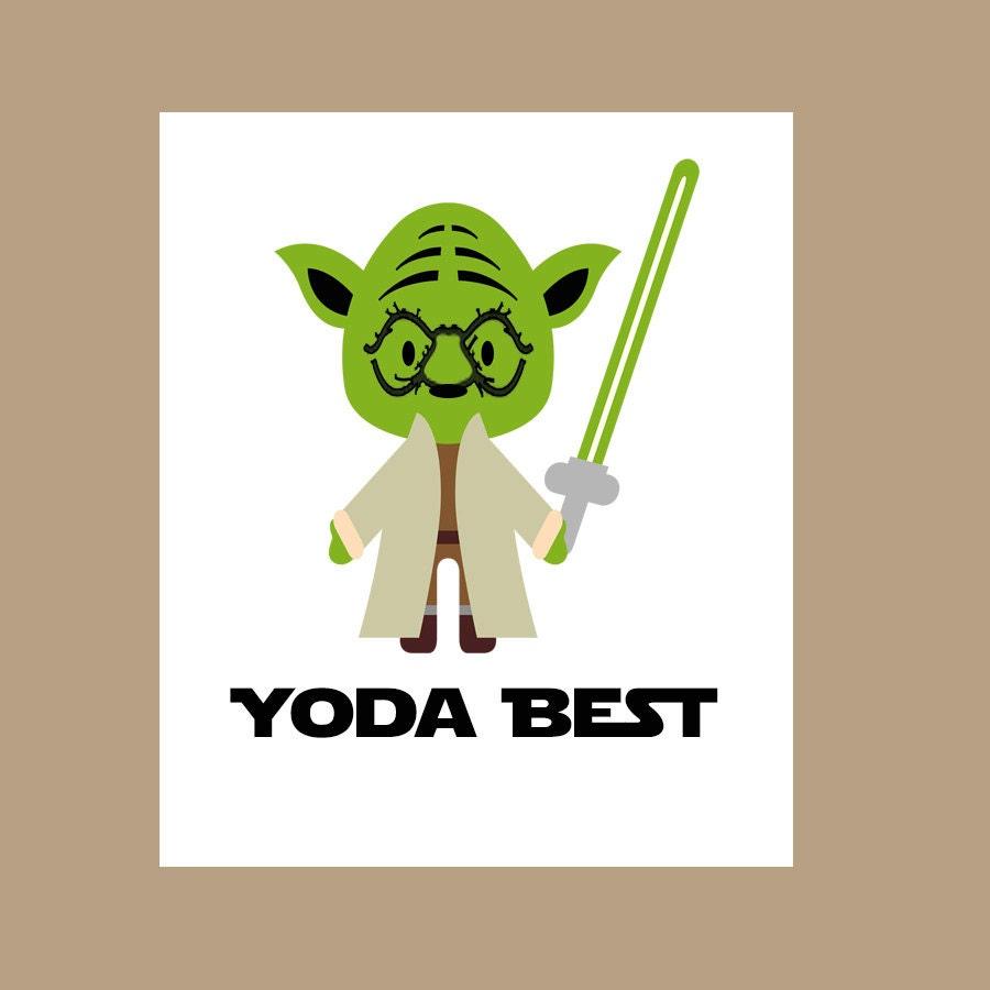 Star Wars Yoda Best Card, Yoda Card, You're the Best Card, Thank You