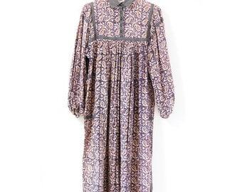 Indian cotton dress (0012) Vintage indian cotton dress Hippie dress Ethnic dress Indian cotton