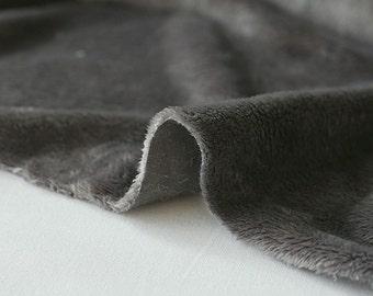 Soft Cuddle Minky Fabric Grey By The Yard
