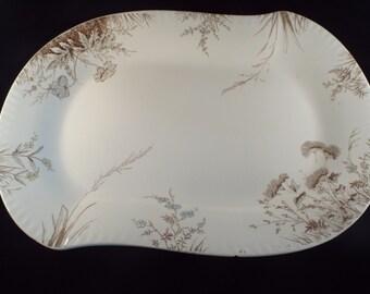 """Johnson Brothers, Antique   Serving Platter 18"""" Royal Semi Porcelain"""" , Vintage Plate, Vintage Serving Platters"""
