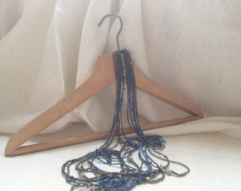Wood suit hangers set of 2 vintage dress hangers soviet vintage costume hanger