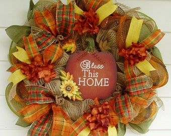 Autumn Wreath, Fall Wreath