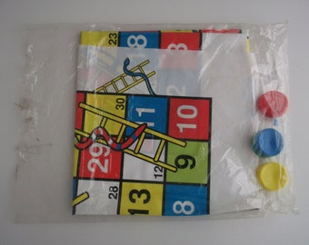 The board game Snakes and Ladders, 90s large game vintage Israel