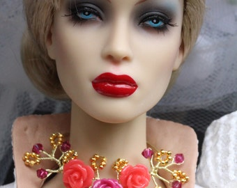 OOAK jewelry set for Tulabelle, Poppy Parker Fashion Teen, Tonner Antoinette and similar sized dolls