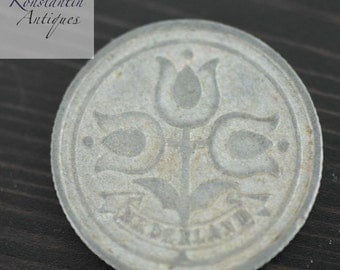 1942 coin 10 cents Netherland old gift
