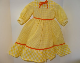 Vintage Handmade Doll Dress