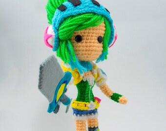 Riven Arcade - League of Legends amigurumi crochet doll