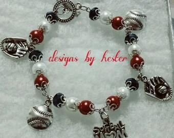 Softball mom link bracelet