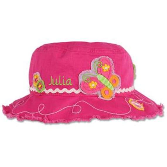 Personalized Butterfly Sun Hat Girl's Beach Bucket Hat