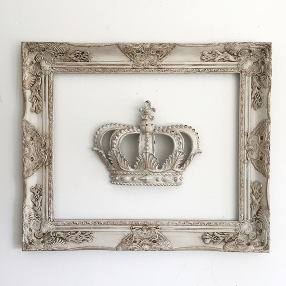 hanging wall frame with princess crown french ornate baroque