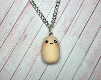 Kawaii Potato Necklace, pendant, miniature food jewelry, polymer clay potato, potato necklace, kawaii potato, best friend gift,