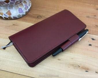 Hobonichi Weeks Cover - Burgundy - Techo Weeks - Pen Loop, Card and  Receipt Pockets