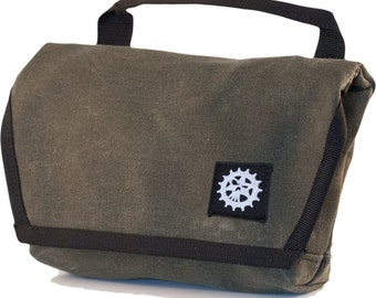 1.5 Liter Multi-Purpose Hip/Handlebar Bag/Fanny Pack - Weatherproof Martexin Waxed Canvas by Psychlist: Subversive Cycling Made in USA!!