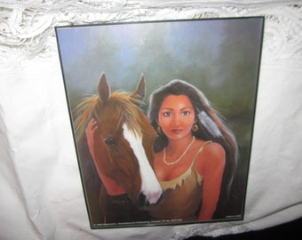 Native American Indian Litho Print by L Triesch