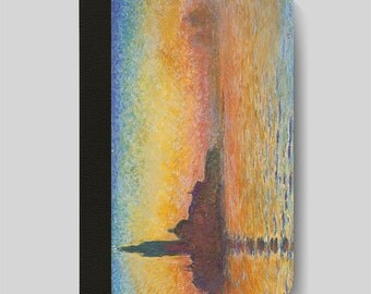 iPad Folio Case, iPad Air Case, iPad Air 2 Case, iPad 1 Case, iPad 2 Case, iPad 3 Case, Sunset in Venice by Twilight by Claude Monet