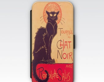 Wallet Case for iPhone 8 Plus, iPhone 8, iPhone 7 Plus, iPhone 7, iPhone 6, iPhone 6s, iPhone 5/5s - Le Chat Noir Steinlen Phone case