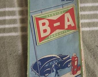 1930s/40s British American Oil Ontario Road Map