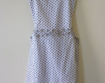 Girls Beige Dress with Black Polkadots and Diamontes