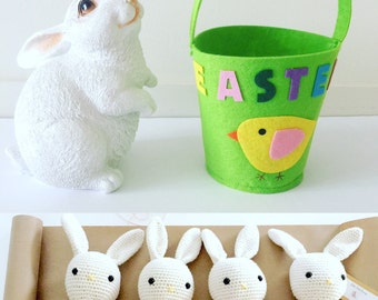 Crochet Bunny Plush Toy Cotton Bunny Amigurumi Rabbit Crochet Rabbit, Newborn Prop, Easter Bunny Made to Order