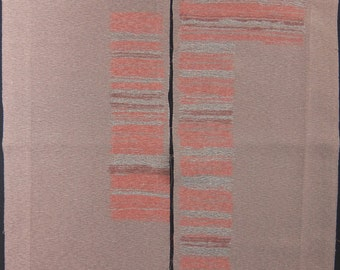 "2pcs(6.7""w. x 13.9""l.) Vintage kimono silk fabric-rosybrow17F"