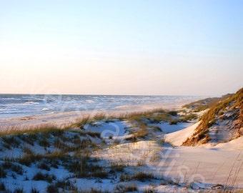 Beach Landscape Photo // Florida Beach Photograph // Sand Dunes Photograph Print