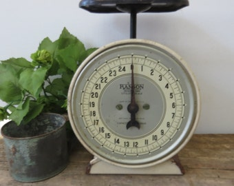 Vintage Hanson Kitchen Utility Scale Black Cream Silver Farmhouse Cottage Shabby Chic Fixer Upper