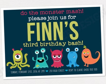 Monster birthday invitation | DIGITAL DOWNLOAD